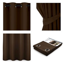 CURT/AH/BLACKOUT/EYELETS/D.BROWN/140X245/1PC