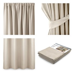 CURT/AH/BLACKOUT/PLEAT/CREAM/140X245/1PC