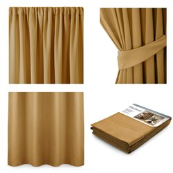 CURT/AH/BLACKOUT/PLEAT/MUSTARD/140X245/1PC