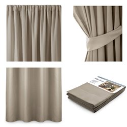 CURT/AH/BLACKOUT/PLEAT/BEIGE/140X245/1PC