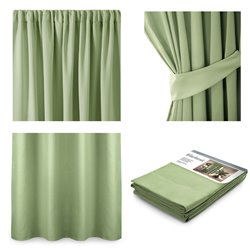 CURT/AH/BLACKOUT/PLEAT/PISTACHIO/140X245/1PC