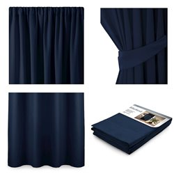 CURT/AH/BLACKOUT/PLEAT/INDIGO/140X245/1PC