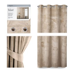 CURT/AH/VELVET/EYELETS/CREAM/140X245/1PC