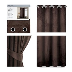 CURT/AH/VELVET/EYELETS/D.BROWN/140X245/1PC
