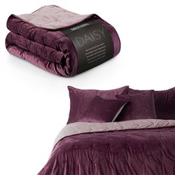 BEDS/DK/DAISY/BERRY+MAUVE/200x220