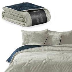 BEDS/DK/PASCALI/CREAM+NAVY/220x240