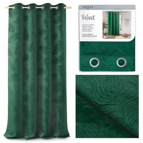Zasłona Velvet Peacock zielona