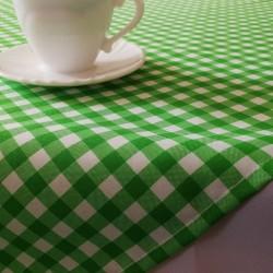 Obrus w zieloną kratę  1x1 cm