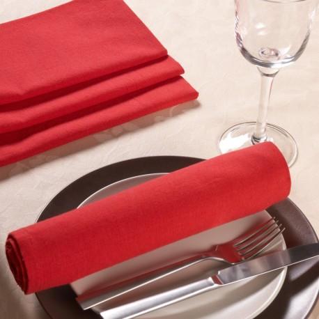 Obrusy , serwety  Lux kolor czerwony